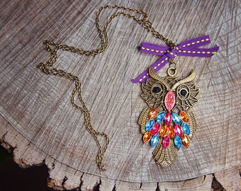 Owl Necklace ~1 pieces #100404
