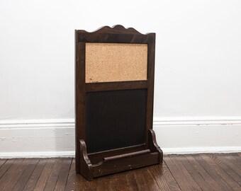 Vintage Ethan Allen Message Board Cork/Chalkboard