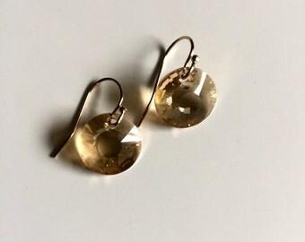 KATE EARRING * golden sunburst -best selling simple drop earring