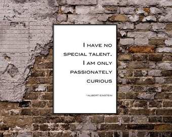 I have no special talent - Albert Einstein Quote