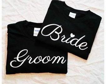 Bride & Groom Matching Shirts| Wedding shirts| Matching Shirts