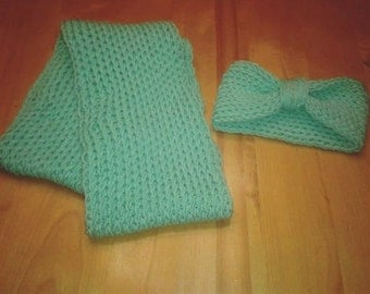 all scarf and matching headband