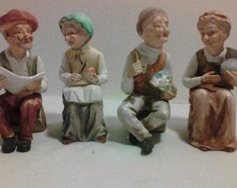 Vintage Set of Ceramic Figurines - Made in Japan S-2039 (set of 4)