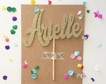Personalized Glitter Name Cake Topper, Custom Cake Toppers, Name cake, Glitter Name Toppers, Personalized Cake,