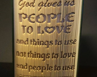 God gives us people to love