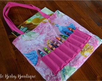 Princess , Coloring Book, Crayon, Bag