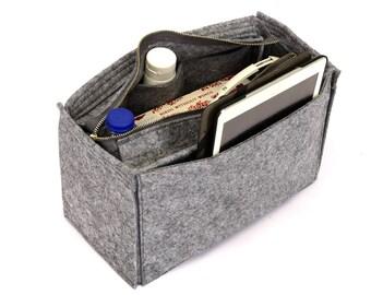 Bag and Purse Organizer with Zipper Closure, Purse insert with Zipper Closure (Express Shipping)