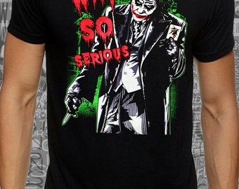 Cool #Joker #why so #serious #print on  #black #lose or #tight  fit #cotton #men #women t-shirt available big sizes --- #DreamTee