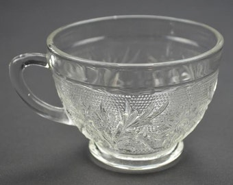 Anchor Hocking Clear Glass Sandwich Punch / Luncheon Cup