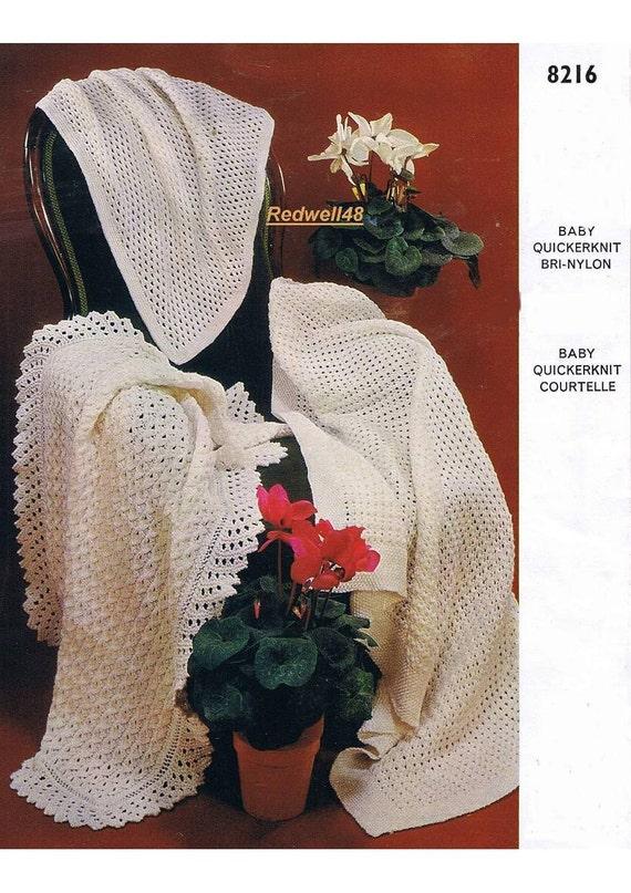 vintage knit patterns for baby shawls blankets afghans instant