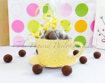 Set of 12 Paper Tea Cup Party Favors