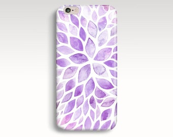 iPhone 7 Case, Floral iPhone 6s Plus Case, iPhone 6 Case, Lilac iPhone 7 Plus Case, Flower iPhone SE Case Purple Flower iPhone 5s Case Gift
