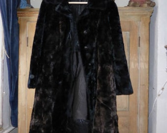 Antique vintage faux fur ladies coat by Borgazia size S (UK 8/10)