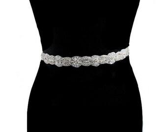Bridal Sashes, Wedding Gown Sash, Crystal Wedding Belt, Bridal Gown Sash, Wedding Accessories