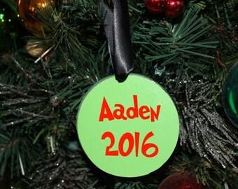 "Merry Gmas 3"" Acrylic Circle Christmas Ornament, personalized"