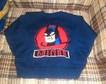 Sweater Batman for boy 6-8 years