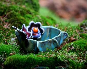 Ceramic sugar bowl. Ceramic sugar bowl.