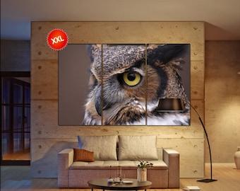 Owl  canvas wall art Owl wall decoration Owl canvas wall art art Owl large canvas wall art  wall decor