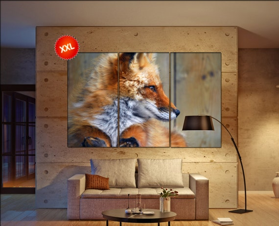 Fox  canvas wall art Fox  wall decoration Fox  canvas wall art art Fox large canvas wall art  wall decor