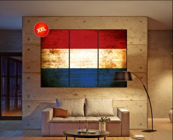 Netherlands flag canvas art print large  canvas print Netherlands flag country flag Wall Home office decor interior Office Decor
