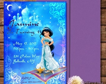 Princess Jasmine Invitation