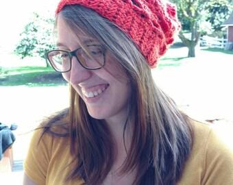 Women's Orange Slouchy Hat