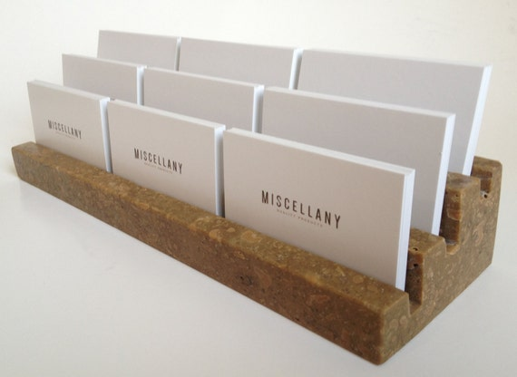 Multiple Business Card Holder Holds 9 different cards Honed