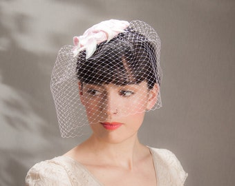 Fascinator lace pastell pink