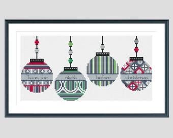 Cross stitch pattern, christmas cross stitch pattern, modern cross stitch pattern, xmas cross stitch pattern, instant download