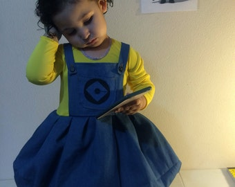Minions costume girl dress toddler minion party despicable me
