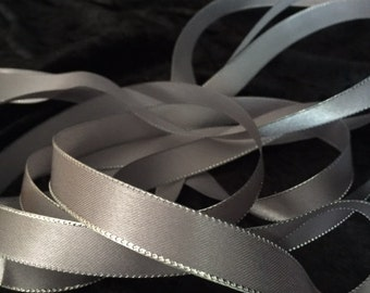 Silver ribbon 5/8in x 4yd  020