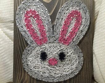 CUSTOM Bunny Rabbit String Art, Easter Bunny, Holiday Decor, Animal Wood Art