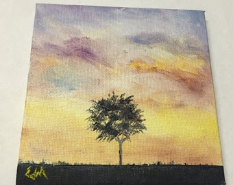 Miniature #4 - Lonely Tree