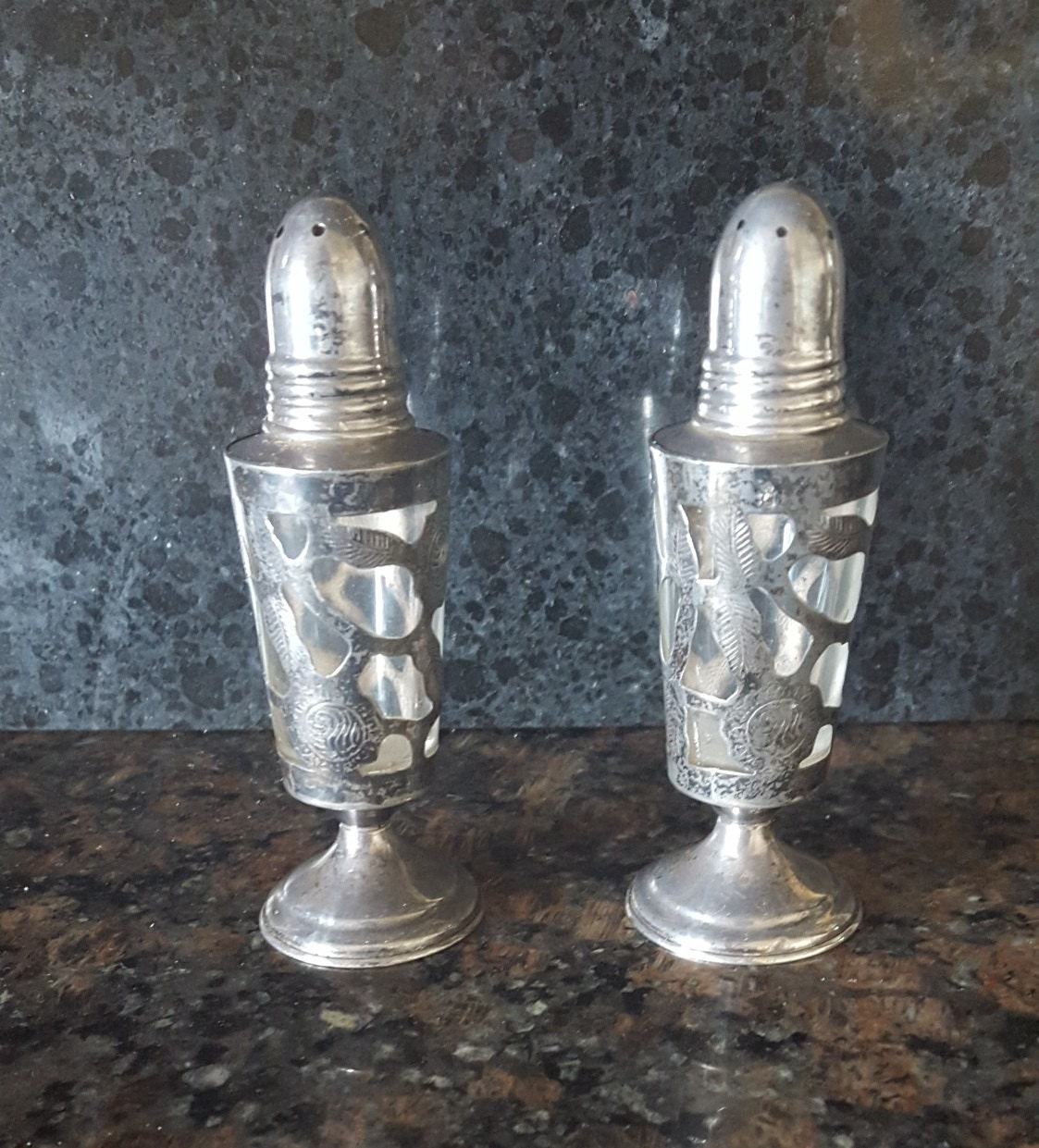 925 Sterling Silver Salt Pepper Shakers