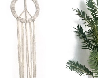 Large Peace sign dream catcher hanging wall decor