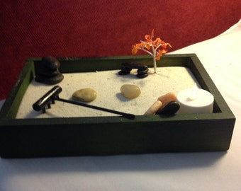 Zen Garden in wooden container