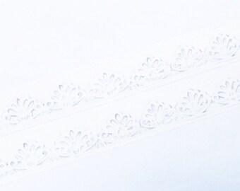 Basic tape - White lace washi tape (T00166)