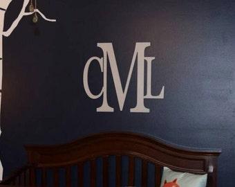 "20"" x 24""Wooden Monogram Wall Hanging - Nursery Decor- Nursery Letters- Wedding Monogram- GuestBook- Wedding Decor - Wood Monogram"