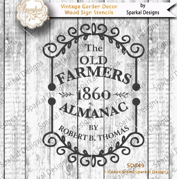 Vintage Garden Decor Sign Stencil Quotes Sayings Farmers