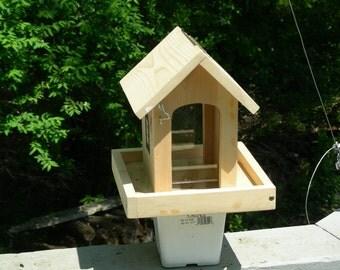 Garden post Bird Feeder