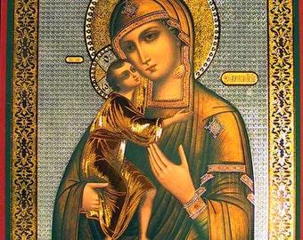 Theotocos Feodorovskaya russian icon - #15bb