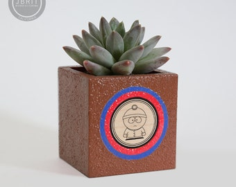 South Park, Stan Marsh, Succulent Planter, Concrete Planter, Desk Organizer, Desk Accessories, Storage Box, Birthday Gift, Male Gift