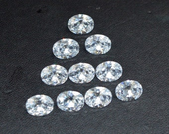 Wholesale lot of 100 pcs. ! Cubic Zirconia oval cut loose gemstone For jewellery with free shipping