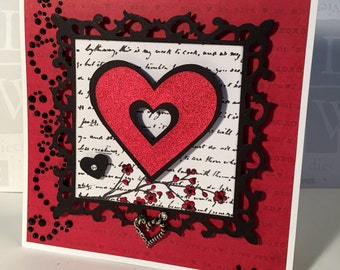 Handmade Valentine's Card/Be Mine