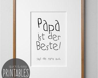 druckvorlage f r papa inkl geschenkanh nger bild. Black Bedroom Furniture Sets. Home Design Ideas