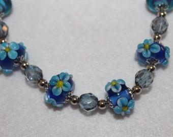 Flower Lampwork glass beads