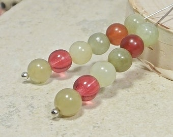 Rainbow Soocho Jade, Twelve Beads