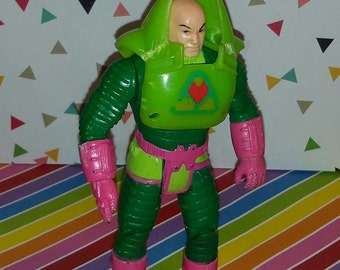 Vintage 1980s Kenner Super Powers Lex Luther Figure Complete (but damaged)