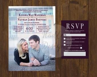 Photo wedding invitation, Picture Wedding Invitation, Modern wedding invitation, Elegant wedding invitation, Unique wedding invitation