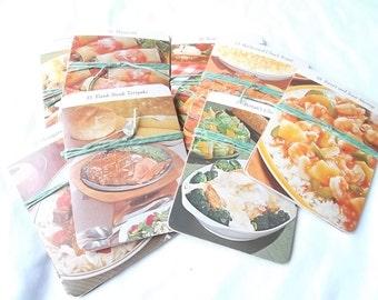 Vintage Prepared Recipe Cards, Random Set of 10, 1972, Marjon Promotions